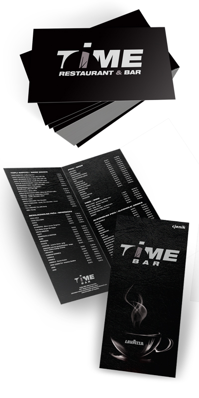Time-business-cards-menu