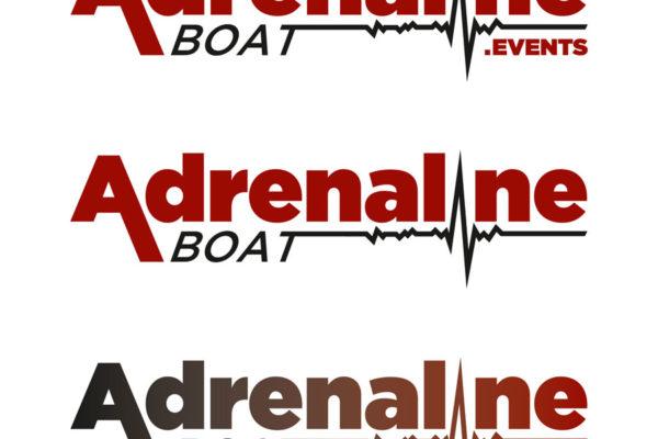 Adrenaline Boat logo - BIJELO
